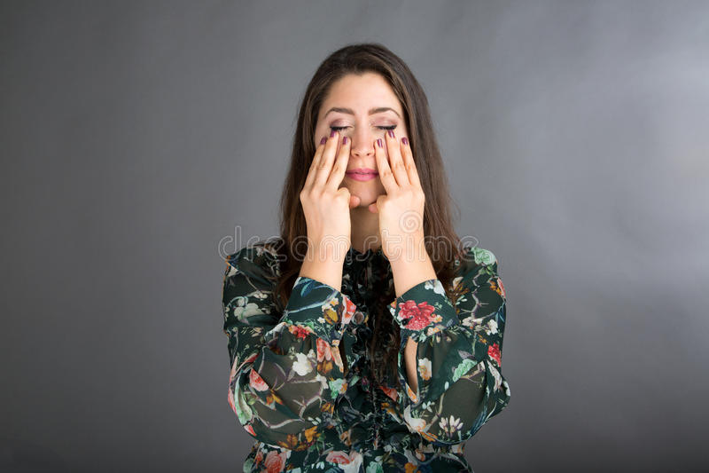 Pose de yoga de visage photo stock