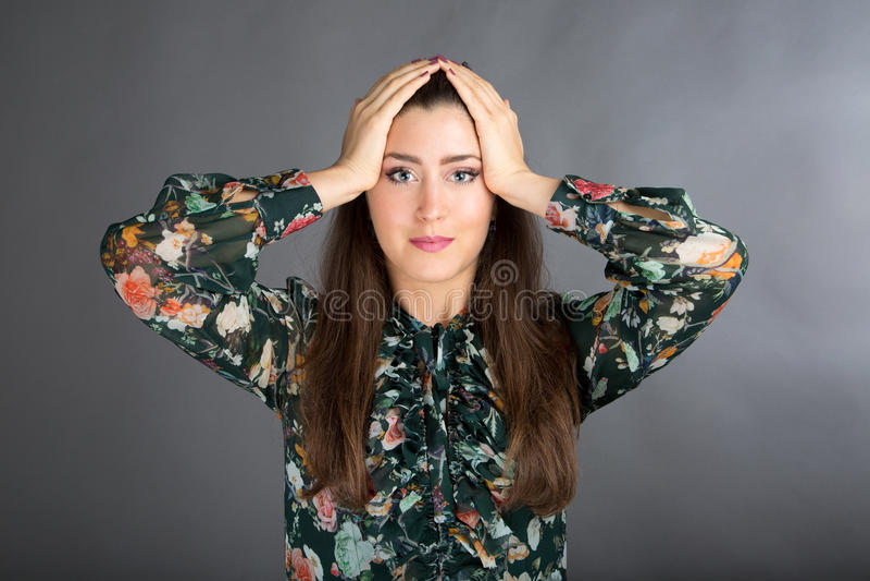 Pose de yoga de visage image stock
