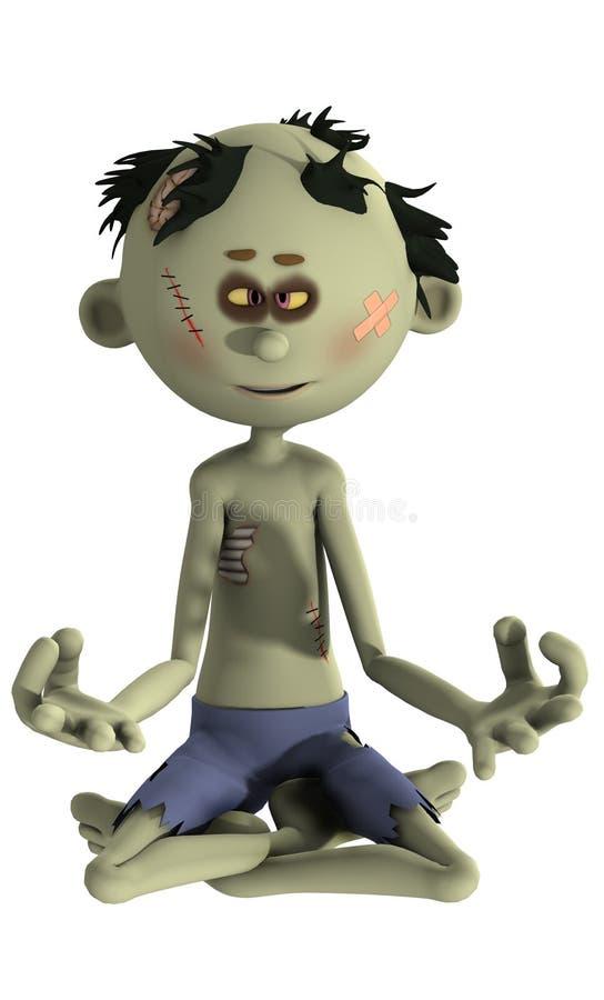 Pose de yoga de zombi illustration libre de droits