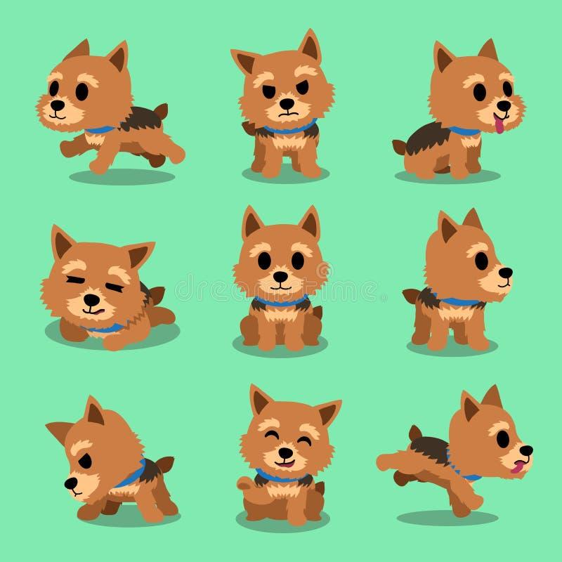 Pose del cane del terrier di Norwich del personaggio dei cartoni animati illustrazione di stock
