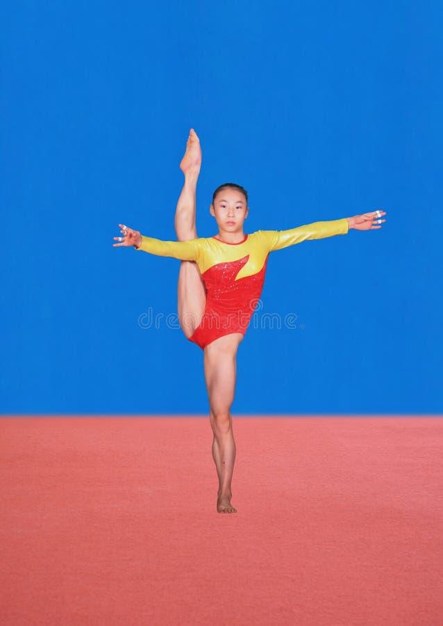 Pose di ginnastica fotografia stock