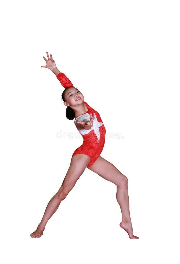 Pose di ginnastica fotografie stock