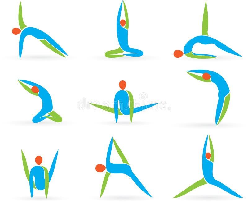 Pose di yoga illustrazione vettoriale