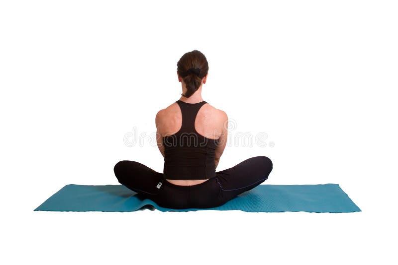 Pose e exercício da ioga imagens de stock