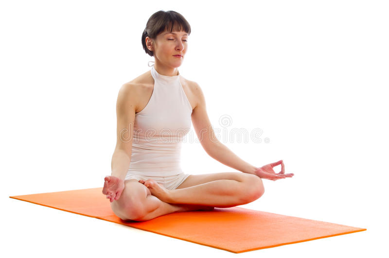 Pose facile de yoga images libres de droits