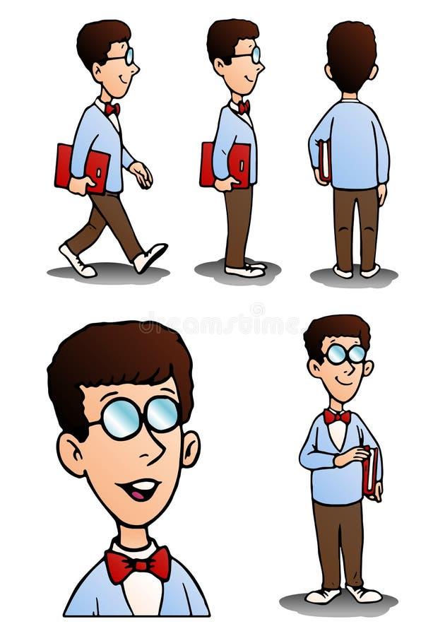 EPS Illustration - Nerdy boy. Vector Clipart gg79237125 - GoGraph