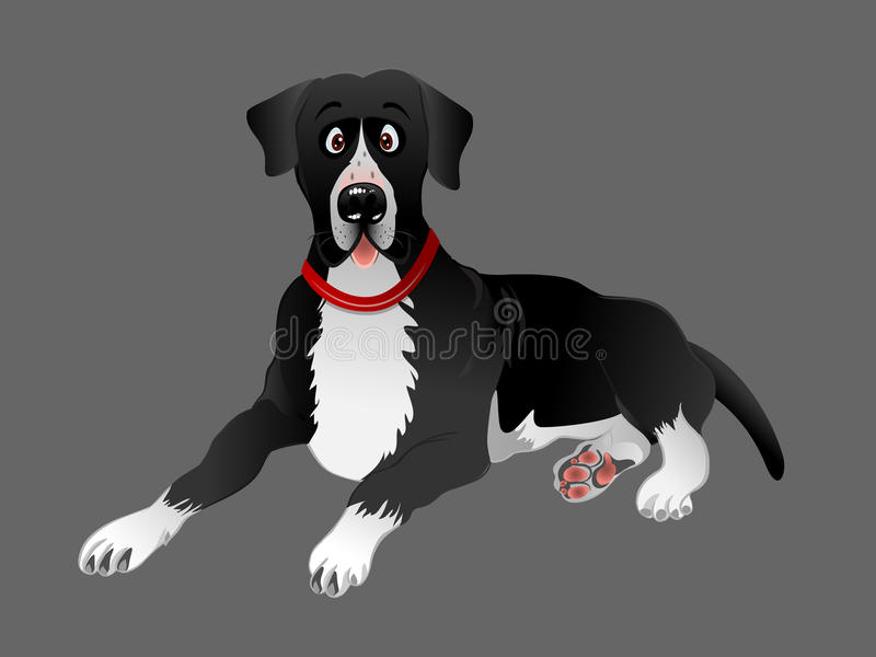 Pose noire de chien de great dane illustration stock