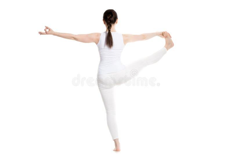 Pose prolongée de yoga de Main-À-Grand-orteil photos stock