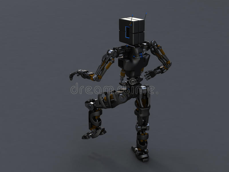 Download Pose robot stock illustration. Image of looking, nanotechnology - 13092611