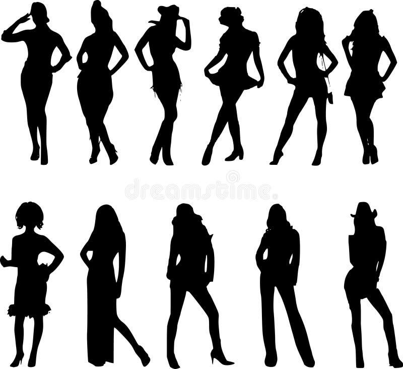 Pose 'sexy' da mulher ilustração do vetor