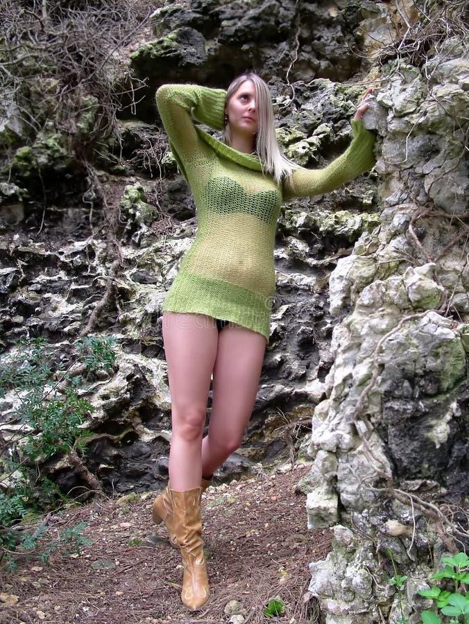 Pose Verte Images stock