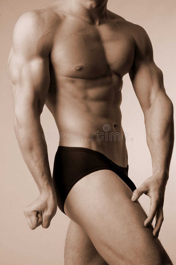 Download Posedown stock photo. Image of male, trunks, sepia, suit - 460444