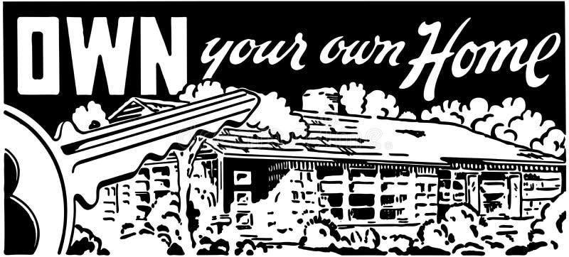 Poseer su propio hogar 4 ilustración del vector