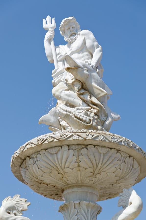 Poseidon或海王星喷泉 库存图片