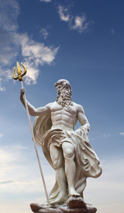 Poseidon雕象 免版税库存照片