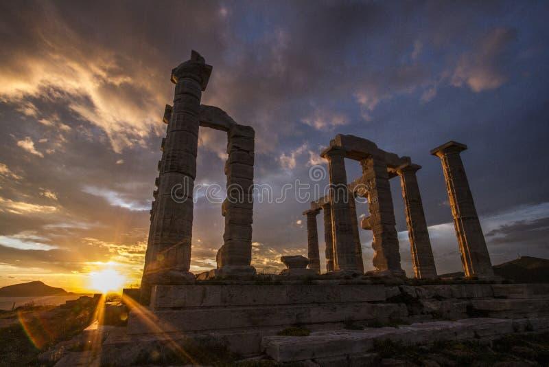 Poseidon świątynia Grecja obrazy royalty free