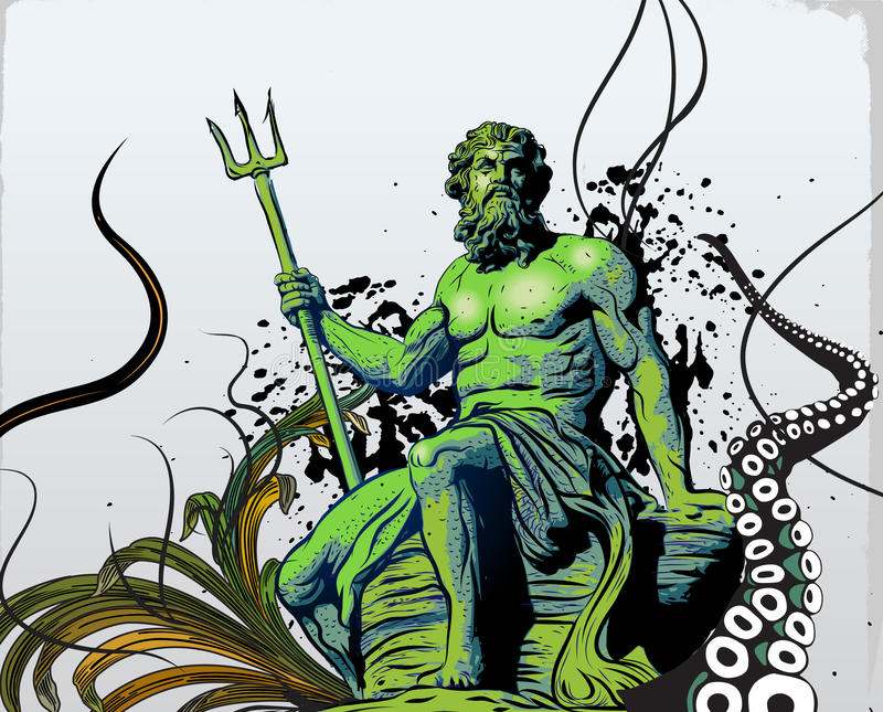Poseidon illustration libre de droits