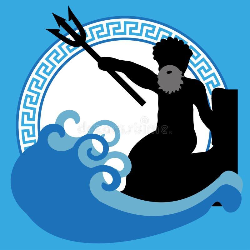 Poseidon ilustração royalty free