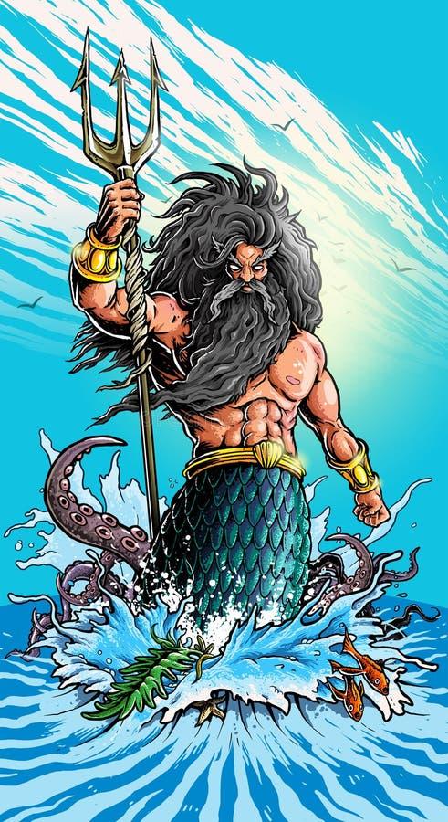 Poseidon στοκ φωτογραφία με δικαίωμα ελεύθερης χρήσης