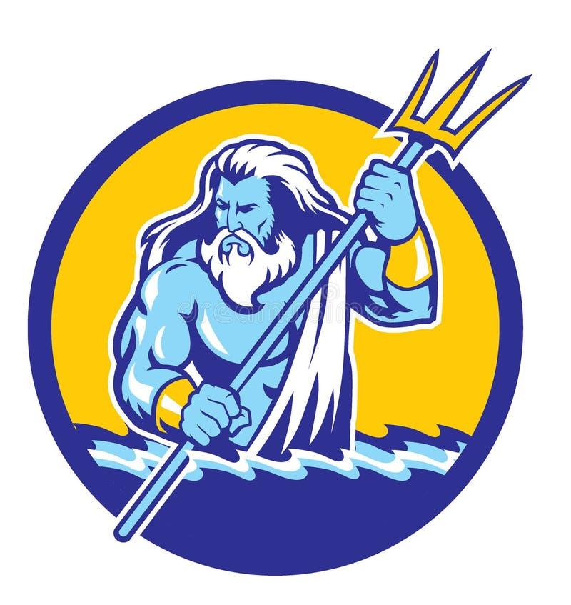 Poseidon illustration libre de droits