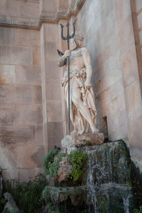 Poseidon rzeźba w Ciutadella parku zdjęcia stock