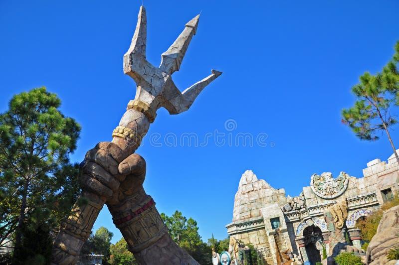 Poseidon' s Woede in Universeel Orlando, de V.S. royalty-vrije stock afbeeldingen