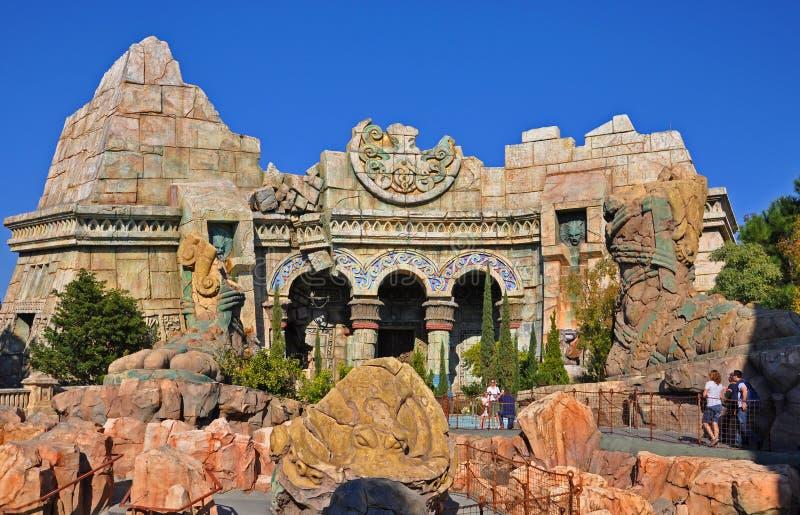 Poseidon' s Woede in Universeel Orlando, de V.S. royalty-vrije stock afbeelding