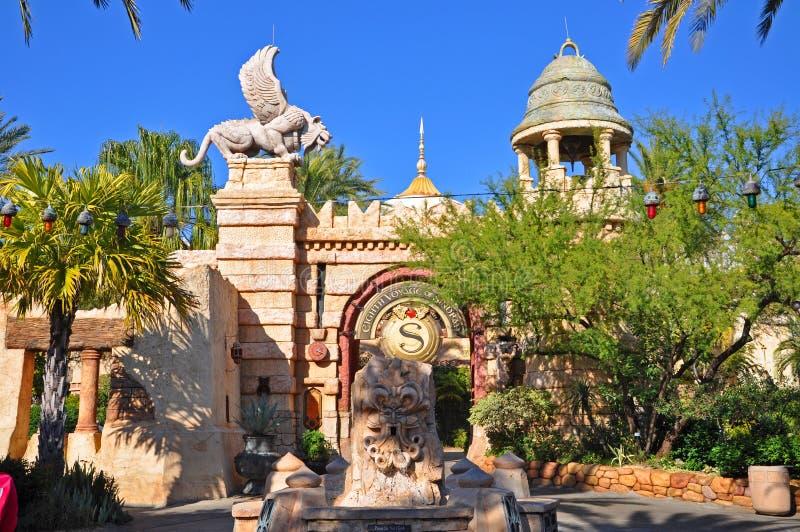 Poseidon' s Woede in Universeel Orlando, de V.S. royalty-vrije stock foto's