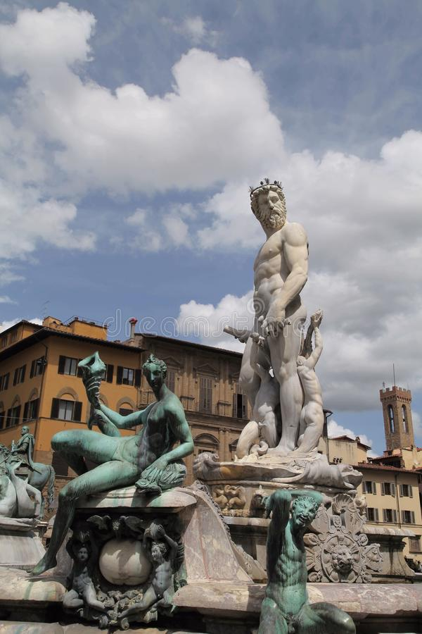 Poseidon Statue stockbilder