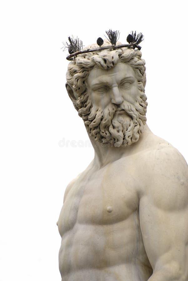 Poseidon Statue stockfotos