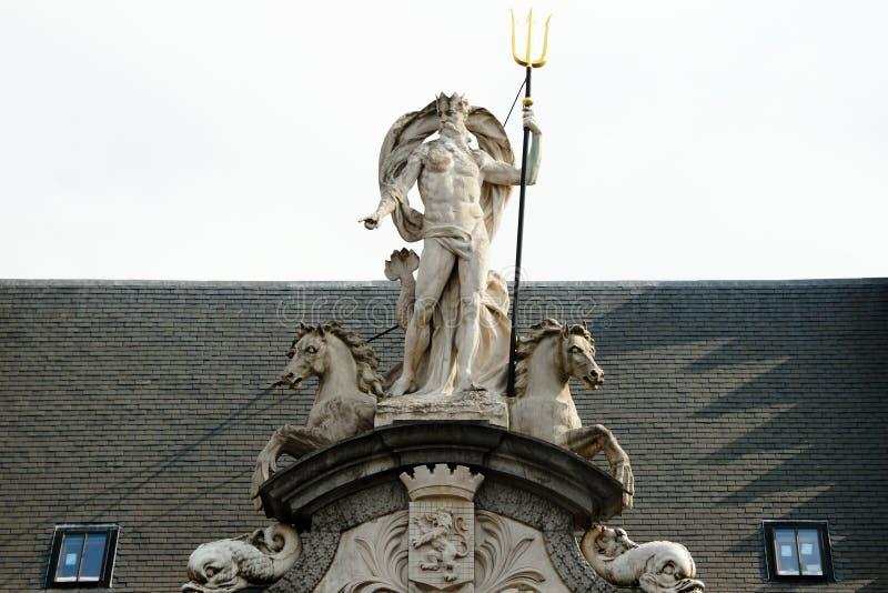 Poseidon staty royaltyfri fotografi