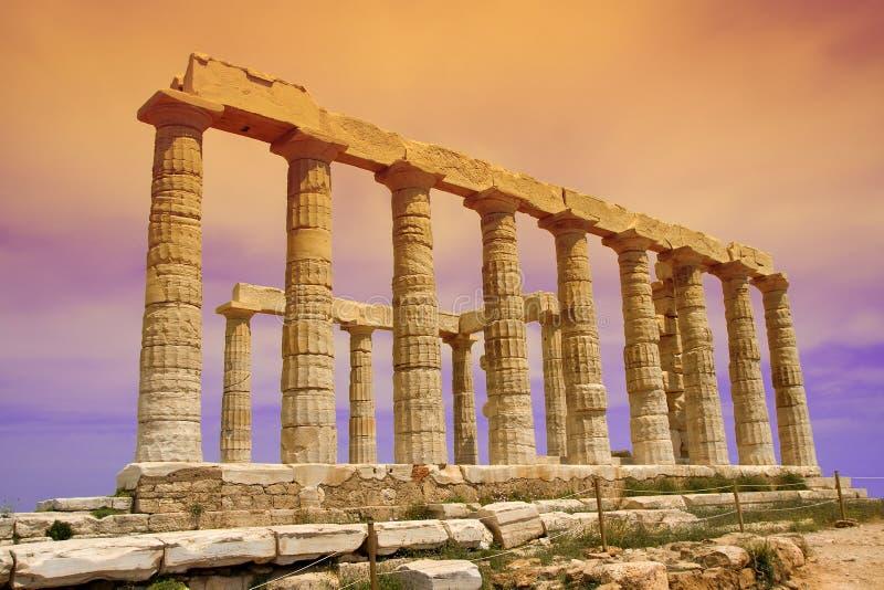 Poseidon Tempel stockbilder
