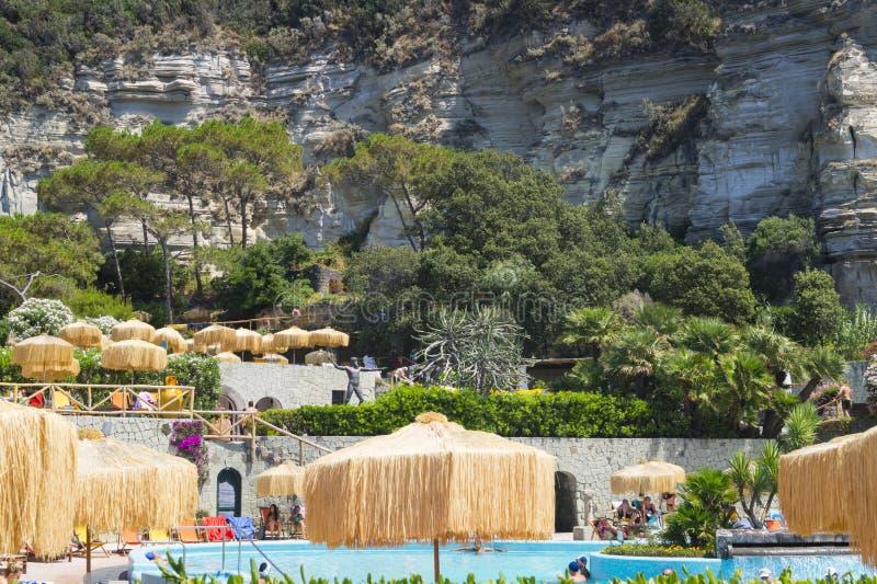 Poseidon Terme, ischi fotografia stock