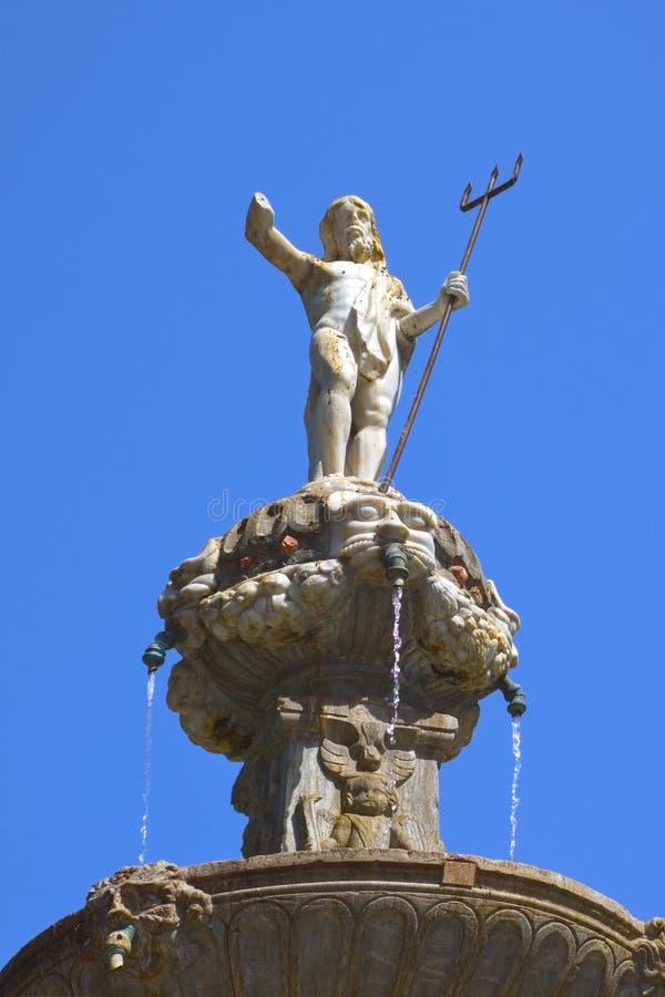 Poseidonstandbeeld in Granada stock foto