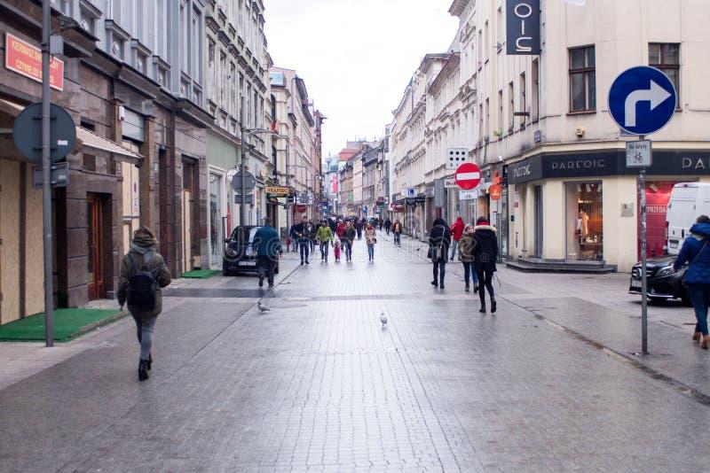 POSEN, POLEN - 28. Januar 2018: zentraler Platz lizenzfreies stockbild