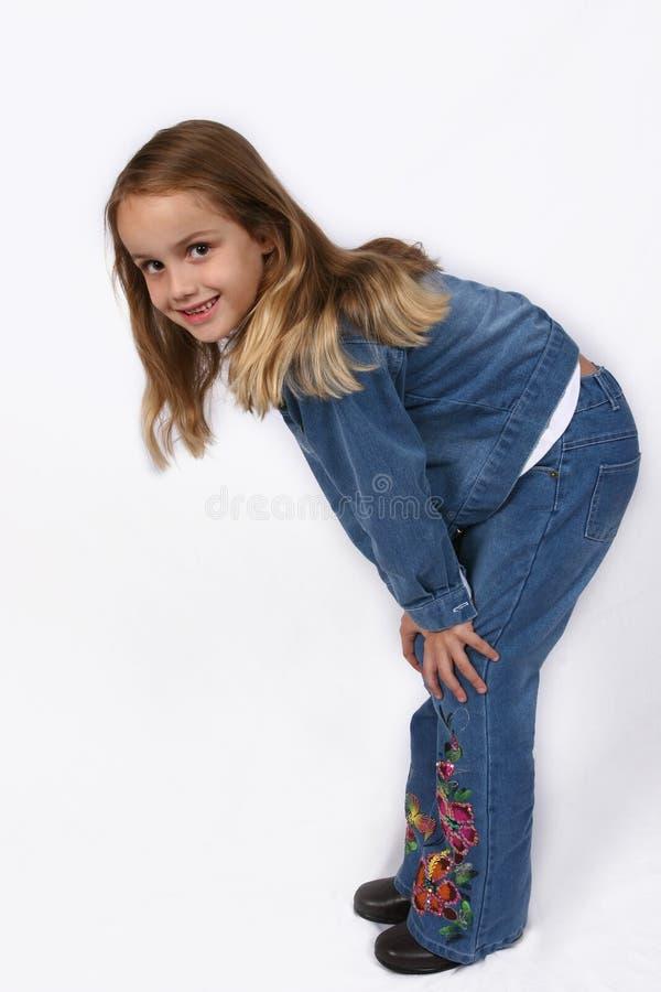 posera barn för flicka royaltyfri bild