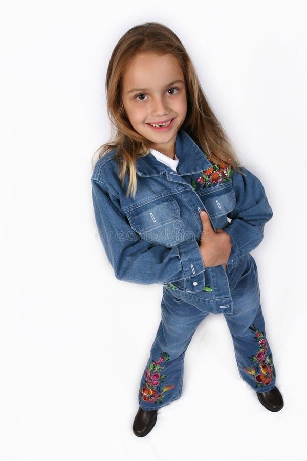 posera barn för flicka fotografering för bildbyråer