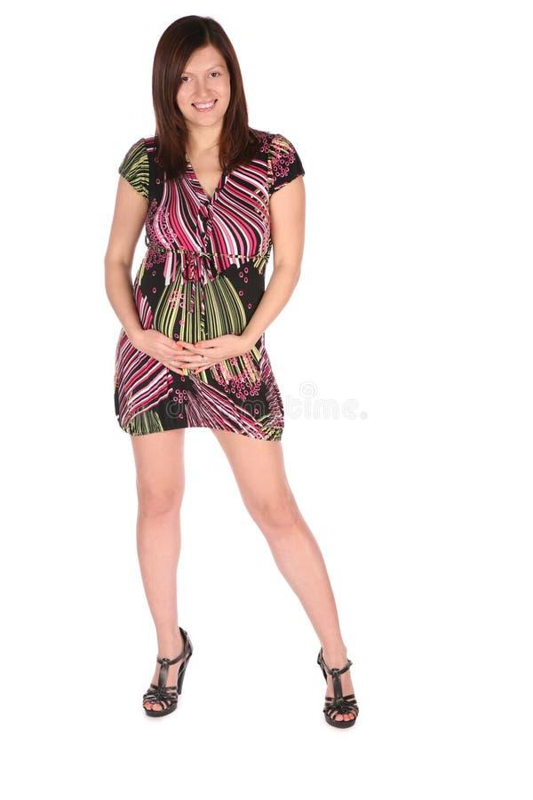 posera för flicka som är gravid arkivfoton