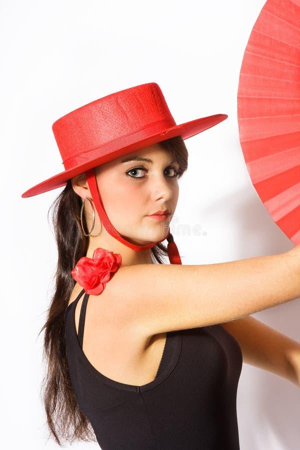 posera för hatt arkivbilder