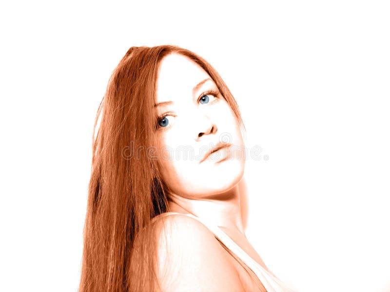 Posera Red Royaltyfri Foto