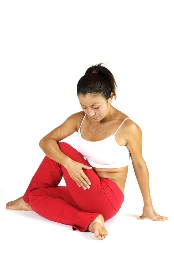 posera yoga royaltyfri bild