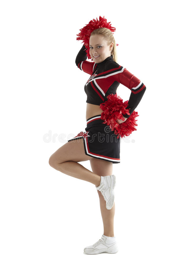 Poses Cheerleading imagem de stock royalty free
