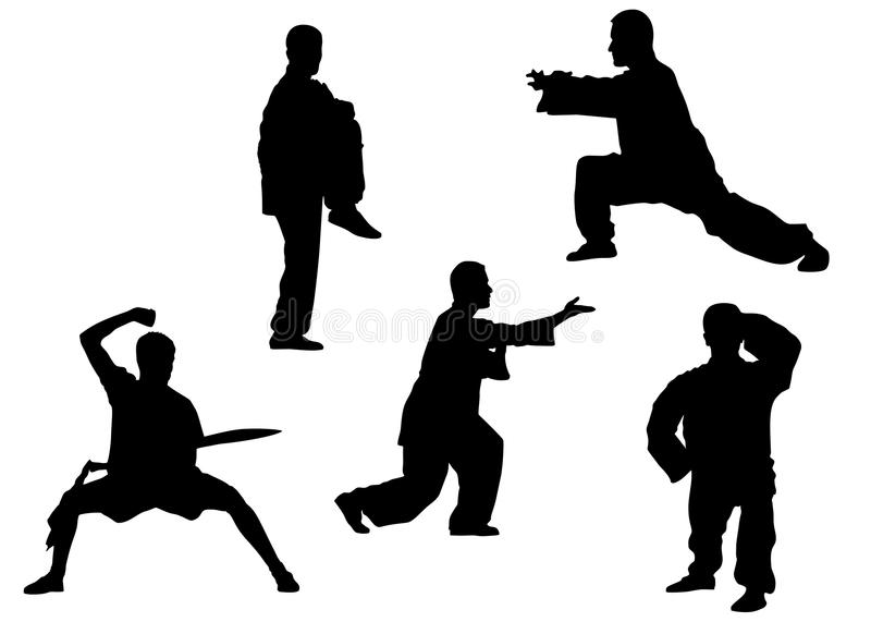 Poses de Kung-fu illustration libre de droits