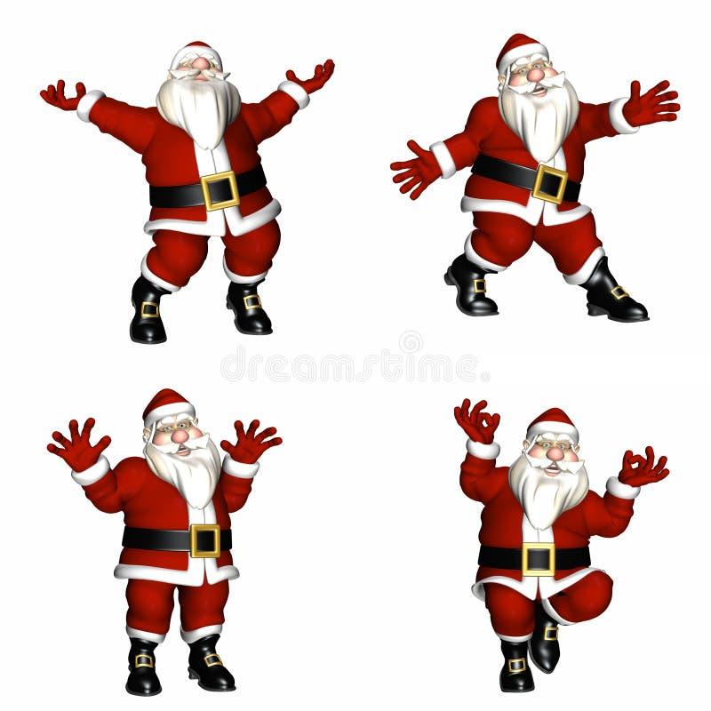 Poses de Santa ilustração royalty free