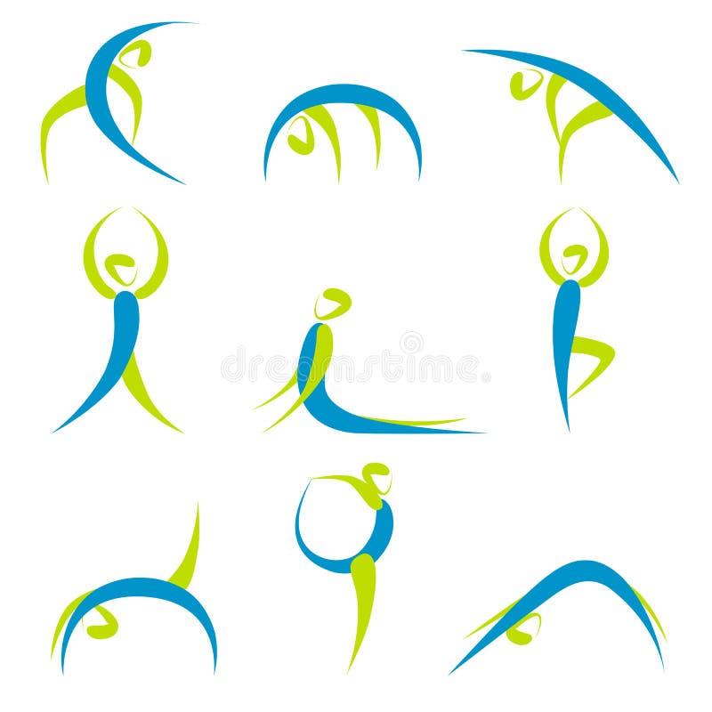 Poses de yoga illustration de vecteur