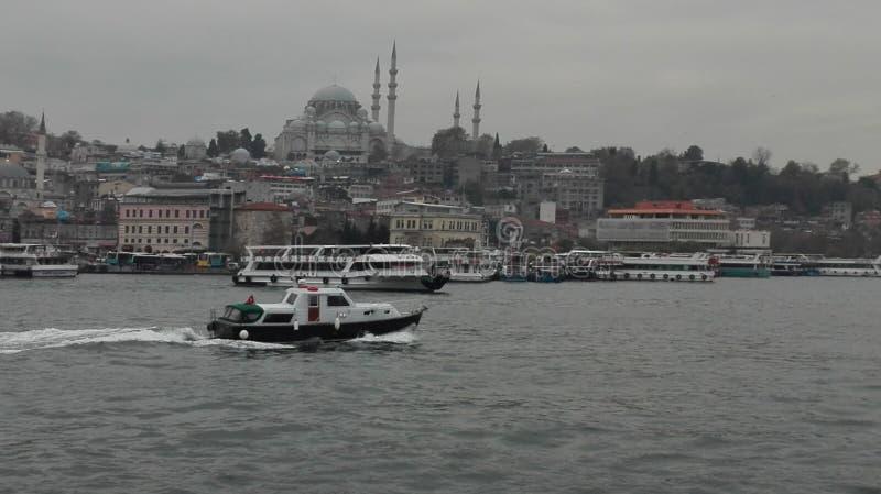 Posfor d'Istanbul, hiver de mer, dinde images stock