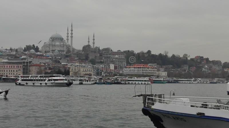 Posfor d'Istanbul, hiver de mer, dinde photo stock