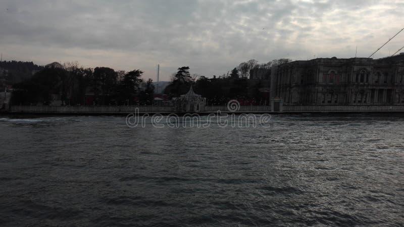 Posfor di Costantinopoli, inverno del mare, tacchino immagine stock