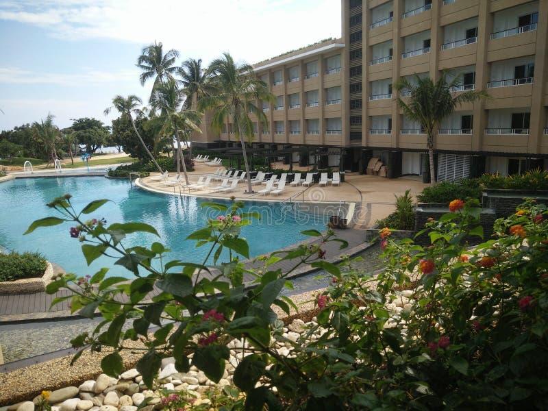 Posh Hotel Beach Resort in Panglao Island in Bohol, Philippines royalty free stock image