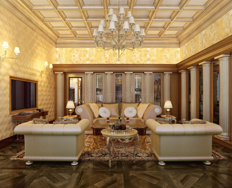 Download Posh Office In A Classic Style Stock Illustration - Image: 13939222